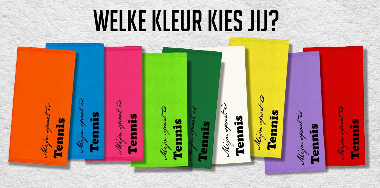 Verschillende kleuren tennishanddoeken