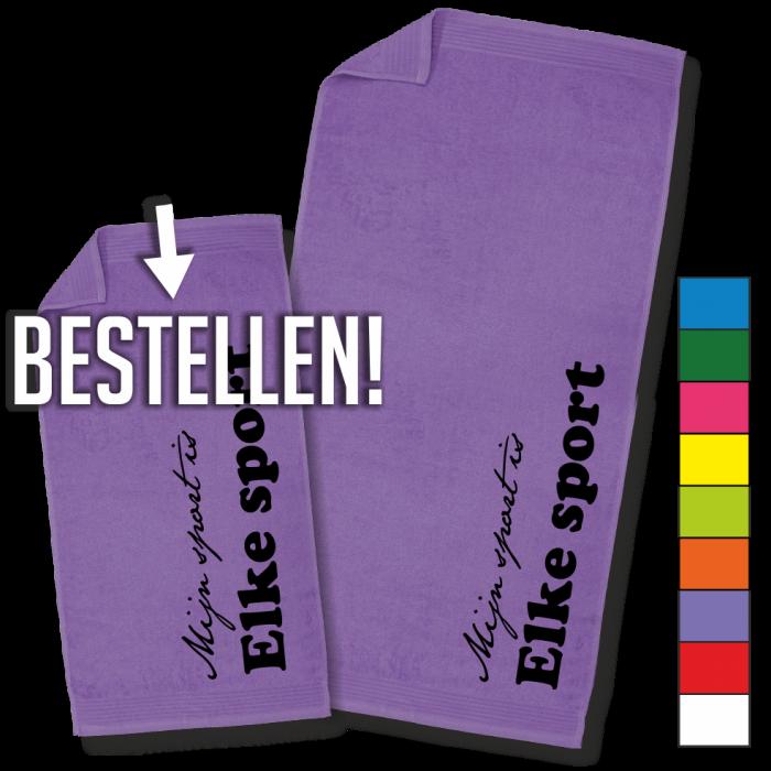 paarse handdoek