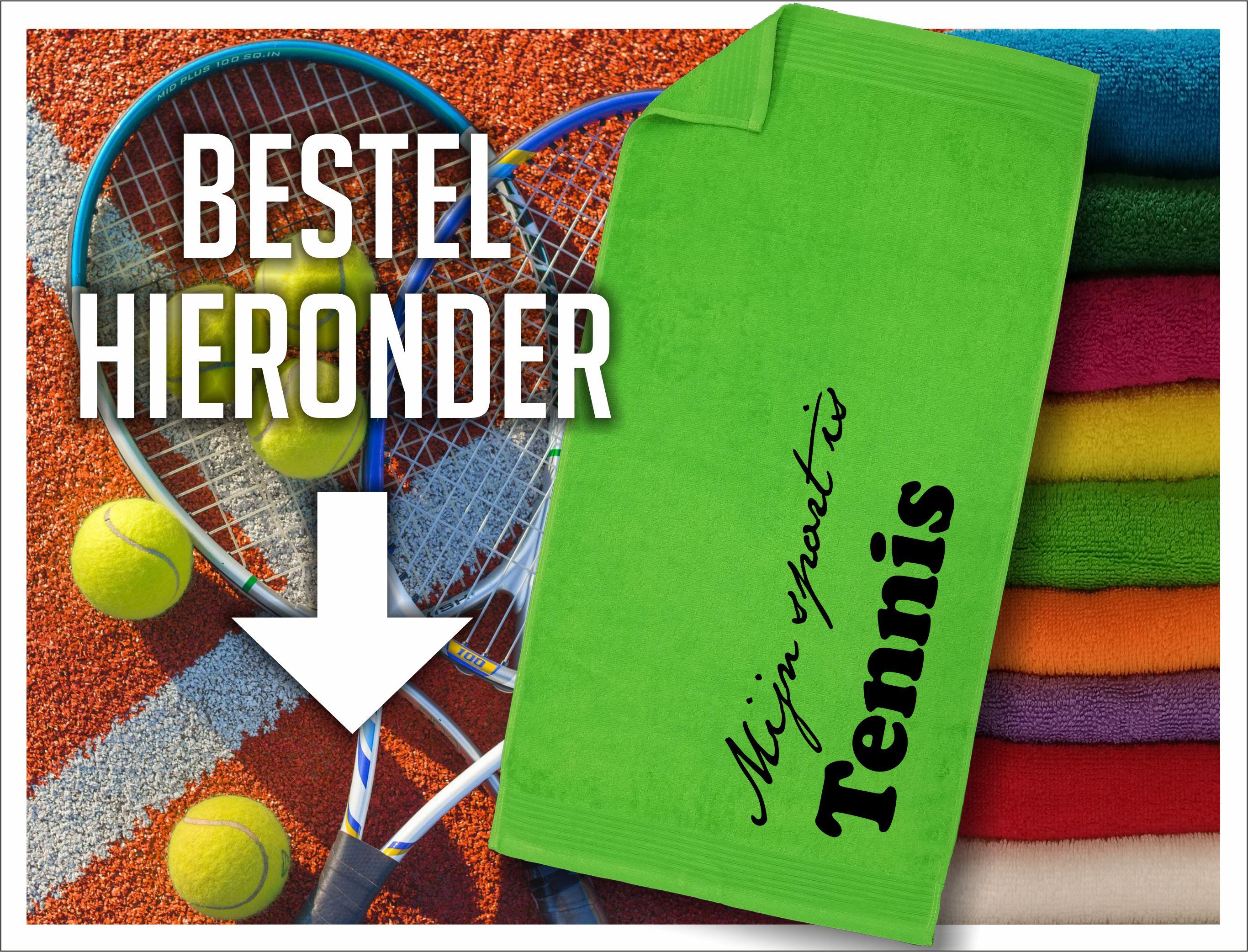 tennis handdoek bestellen hieronder