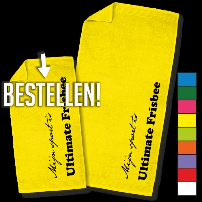 gele handdoek ultimate frisbee