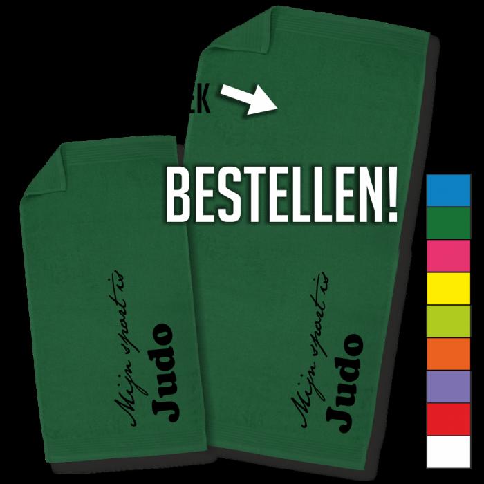groene badhanddoek
