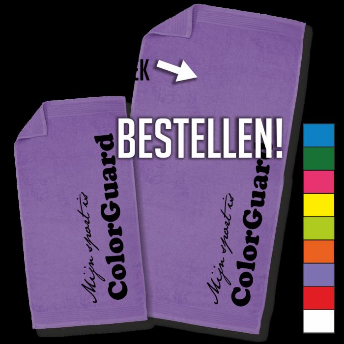 paarse handdoek ColorGuard badhanddoek