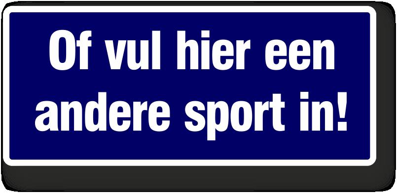 eigen sportkeuze