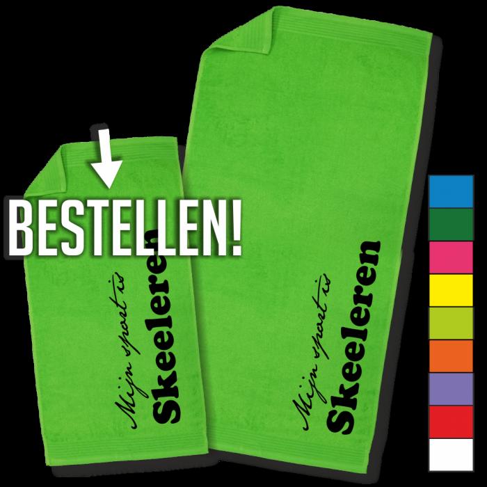 groene handdoek Skeeleren handdoek