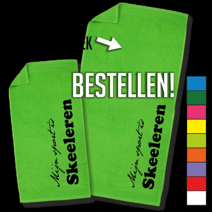 groene handdoek Skeeleren badhanddoek