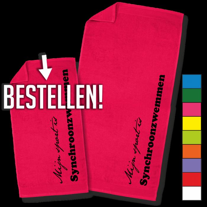 roze handdoek